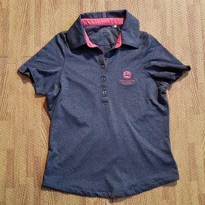John Deere Classic Annika C&B Gray Golf Polo Shirt